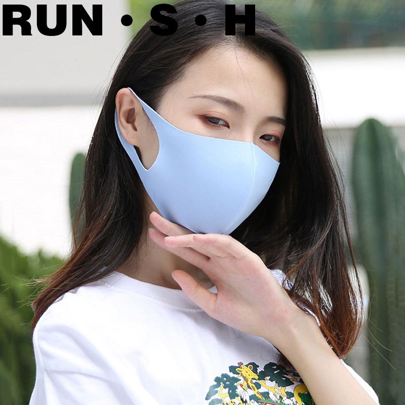 3PC Ice Silk Cotton Dust Mask Sun Protection Anti Tidbits Washable Four Seasons Universal Sponge Repeatable  Anti-pollution Mask