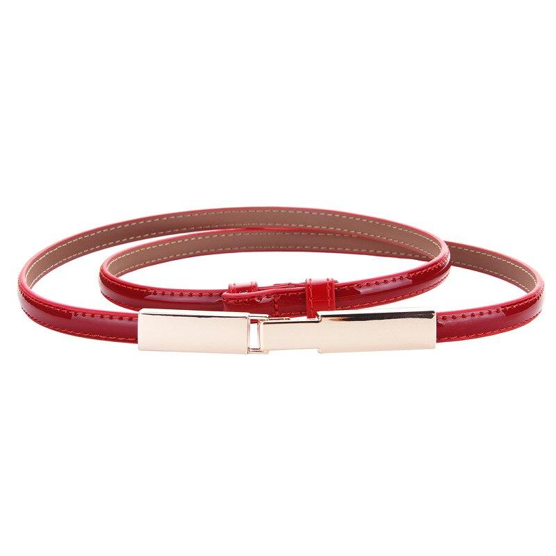 Trendy Skinny Belts For Women Dress Blouse Cowhide Strap New Adjust Genuine Leather Woman Belt Designer Female Waistbands Gifts