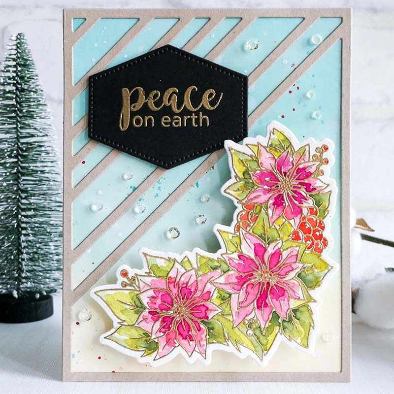 half picture frame DIY cut dies stencil scrapbooking album paper card embossing