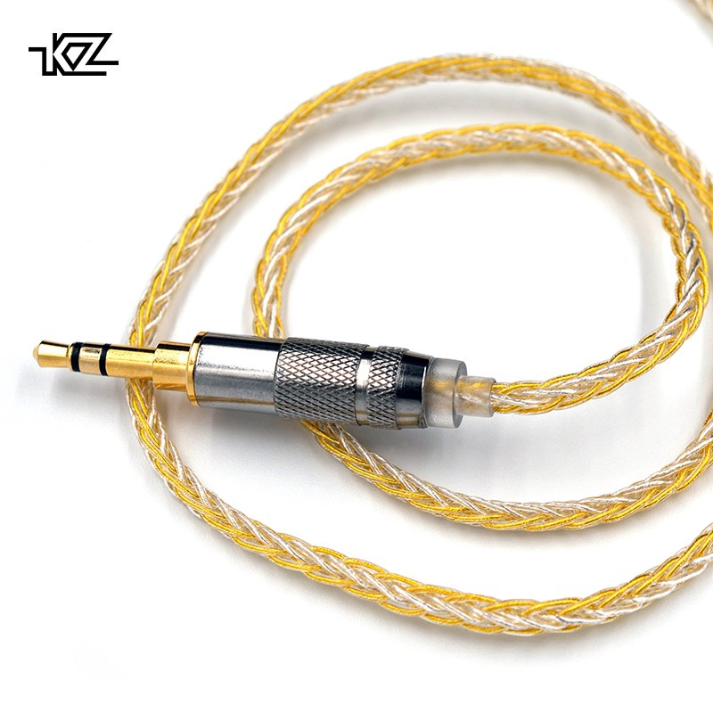 KZ Earphones Gold Silver Mixed plated Upgrade cable Headphone wire for ZS10 Pro ZSN AS10 AS06 ZST ES4 ZSN Pro BA10 ES4 ZSX C12 image