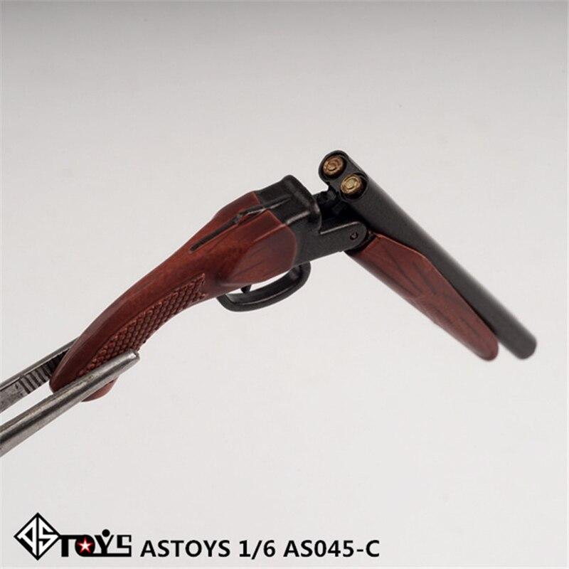 In Stock ASTOYS AS045 1/6 Revolver Pistol Gun Spray Gun Shot Gun Plastic Model Toy For 12 Inches Action Figure Doll Toy Gift