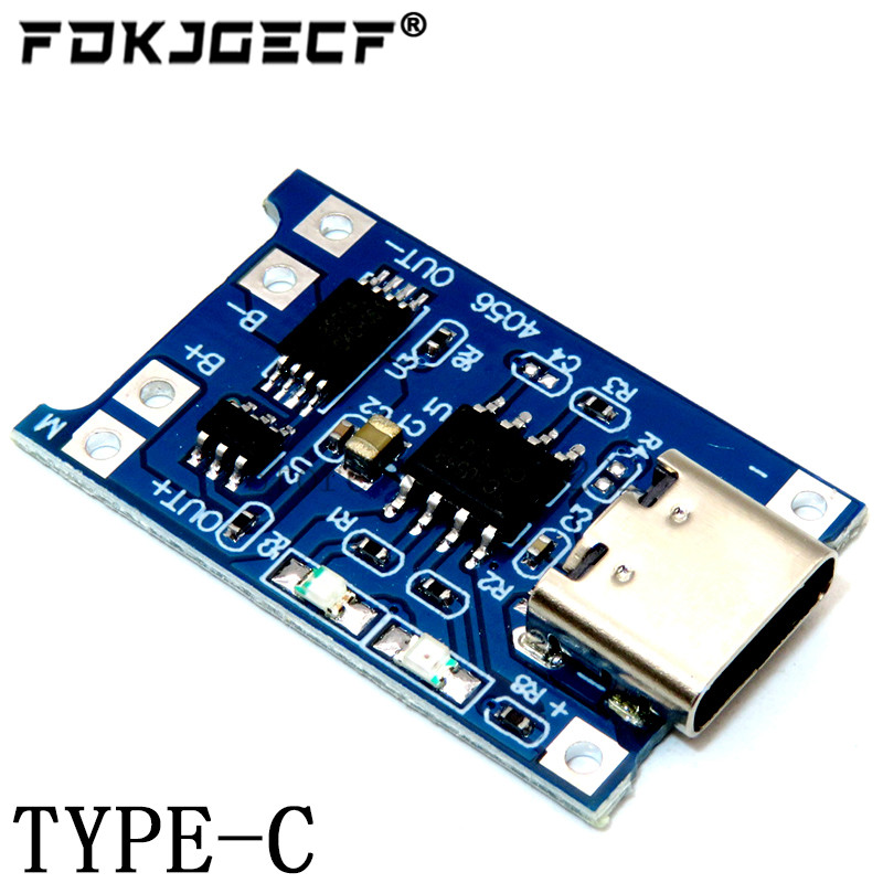TP4056 With Protection Dual Functions 5V 1A Mini Micro TYPE-C USB 18650 Lithium Battery Charging Board Charger Module 1A Li-ion 5