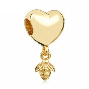 2 шт./лот, подвеска золотого цвета с бусинами, оригинальный бренд, браслеты для женщин и детей, сделай сам, рождественский подарок, ювелирное изделие