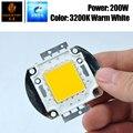 Бесплатная доставка 200 Вт теплый белый 3200K Цвет COB чип высокой Мощность светильник бусины Вход 30 V-34 V напольный светильник Точечный светильни...