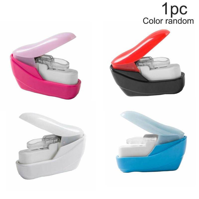 No Nails Stapling Machine Mini Kawaii Book Stapler Stapleless Stapler Paper 5*2.5*5cm Office Supplies