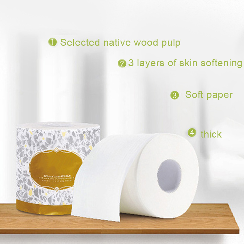 Hot 10 Rolls Toilet Paper 3-ply Bath Tissue Bathroom White Soft For Home Hotel Public IE998