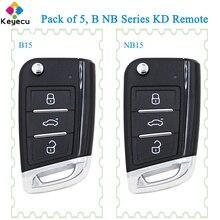 KEYECU 5PCS KEYDIY B NB Serie B15 NB15 KD Universal Remote Key 3B für KD900 URG200 KD900 + Mini KD KD X2 für VW MQB Stil