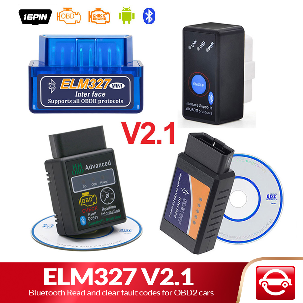 ELM327 Bluetooth V2.1 per Android Torque OBD 2 Interfaccia OBD2 Scanner Super MINI ELM 327 Supporto Protocolli di OBDII lettore di codice title=
