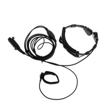 Finger PTT Throat MIC Acoustic Tube Earpiece Headset For SEPURA Radio STP8000/8030/8040/8080