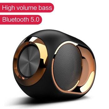 Portable X6 TWS Bluetooth 5.0 Wireless Speaker Soundbar stereo Music Surround super Bass speaker HiFi Sound Support TF - discount item  40% OFF Portable Audio & Video