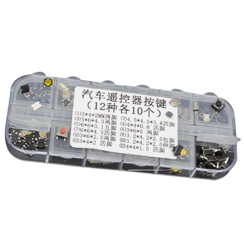 120 шт./лот, 12 значений, пульт дистанционного управления для автомобиля, кнопочный переключатель, набор, 4*4, 3*6, 3*4, патч, сенсорный переключатель, кнопка, образец, упаковка|Выключатели|   | АлиЭкспресс