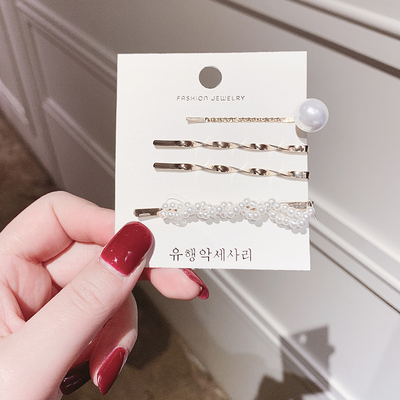 New fashion of ins Korean simple pearls jewelry wedding bridal hair accessories hairclips for women have retro tiaras and crowns