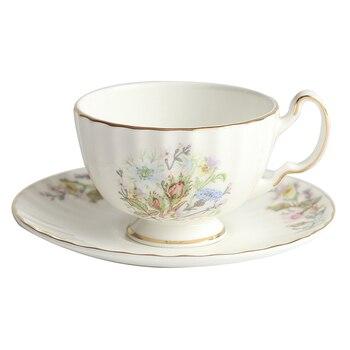 European Flower Coffee Cup With Handle Saucer Porcelain British Tea Cups Set Bone China Jogo De Xicaras Cup With Saucer 50CS50 фото