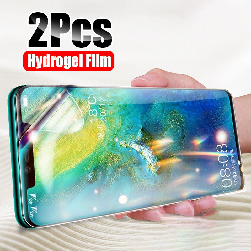 ZNP Screen Protector For Huawei P30 P20 Pro P Smart 2019 Hydrogel Film On The For Honor 20 10 Lite 8X Soft Film Not Glass