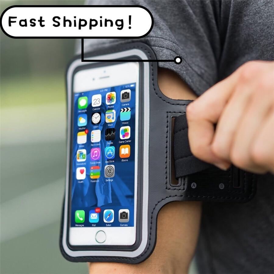 Universal esportes ao ar livre suporte do telefone braçadeira caso para samsung ginásio correndo saco telefone banda braço caso para iphone xs max para samsung