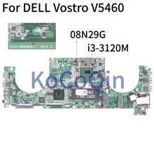 KoCoQin материнская плата для ноутбука DELL Vostro V5460 5460 Core SR0TY i3-3120M материнская плата DA0JW8MB6F1 CN-08N29G 08N29G