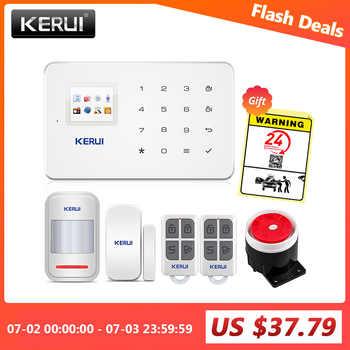 KERUI Wireless Home WIFI GSM Sicherheit Alarm System Kit APP Control Mit Auto Zifferblatt Motion Detektor Sensor Einbrecher Alarm System