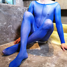 glossy body suit