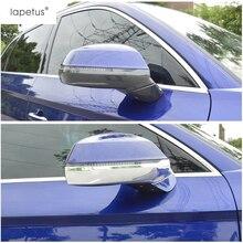 Lapetus Accessories Fit For Audi Q5 2018 2019 Side Door Rearview Mirror Anti-rub Rubbing Strip Decoration Molding Cover Kit Trim