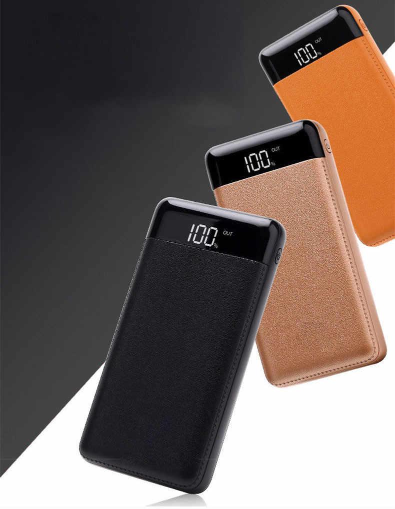 30000mah Bank zewnętrznego zasilania baterii PoverBank 2 LED USB Powerbank przenośna ładowarka do telefonu komórkowego dla Xiao mi mi Huawei iphone 7 X