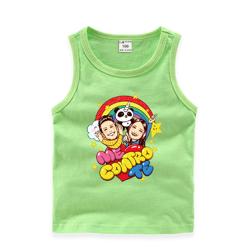 Me Contro Te Cotton Clothes For  Big  Kids Cartoon Panada Boys Tops Teenage Student Summer O-neck T Shirt Little Grils Clothing