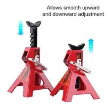 Piso do carro jack stands elevador par cremalheira universal reparação suporte de proteção adaptador liga alumínio pneu mudança equipamento levantamento