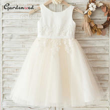 Пышное кружевное платье с цветочным узором для девочек; Платье