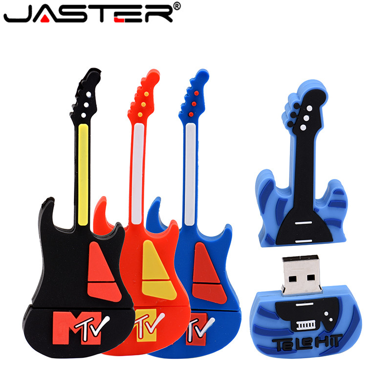 JASTER Music Note Pen Drive Musical Instrument Usb Flash Drive Pendrive 4GB 8GB 16GB 32GB Cartoon Memory Stick U Disk Gift
