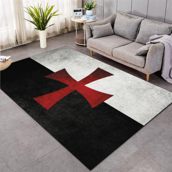 Knights Templar  cavalier Carpet Soft Flannel 3D Print Rug Parlor Mat Area Rug Anti-slip Large Carpet Rug Living Room Decor 006