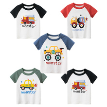 t shirt for boys summer kids clothes child t shirts cotton children tops clothing baby shorts print car machine infant tee New Cartoon Print Baby Boys Car T Shirt For Summer Infant Kids Boys Girls T-Shirts Clothes Cotton Toddler Letter Tops