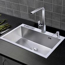 304 кухонная раковина из нержавеющей стали с держателем для