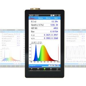 Hopoocolor ohsp350c handheld espectrômetro luminaires testador cct cri lux medidor