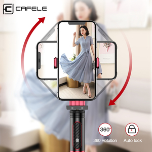 Image 5 - Cafele Foldable Bluetooth Wireless Selfie Stick Handheld 3 Axis Gimbal Camera Holder Stabilizer For Phone With Remote Control