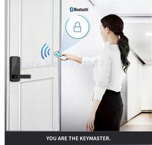 Image 3 - قفل الباب الالكتروني بدون مفتاح قفل ذكي APP بلوتوث قفل باب رقمي للمنزل والأمن شقة