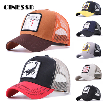 New Brand Baseball Cap for Men Women Summer Mesh Mens Embroidery Animal Bones Hip Hop Hat Casual Cotton Dad Hats Trucker