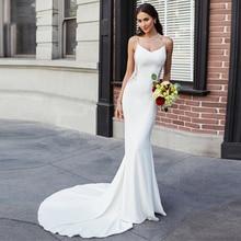 Thinyfull Sexy Mermaid Wedding Dresses Fashion Custom Made Lace Bridal Gowns Backless Long Vestido De Novia Brida