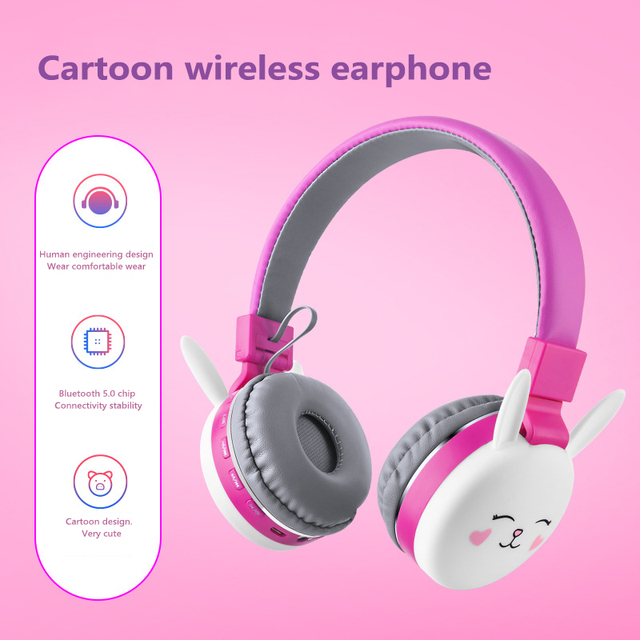 2020 New Cat Ear Headphones Cute Cartoon Animal Wireless Blueooth Headset All Bluetooth Device For Iphone Tablet