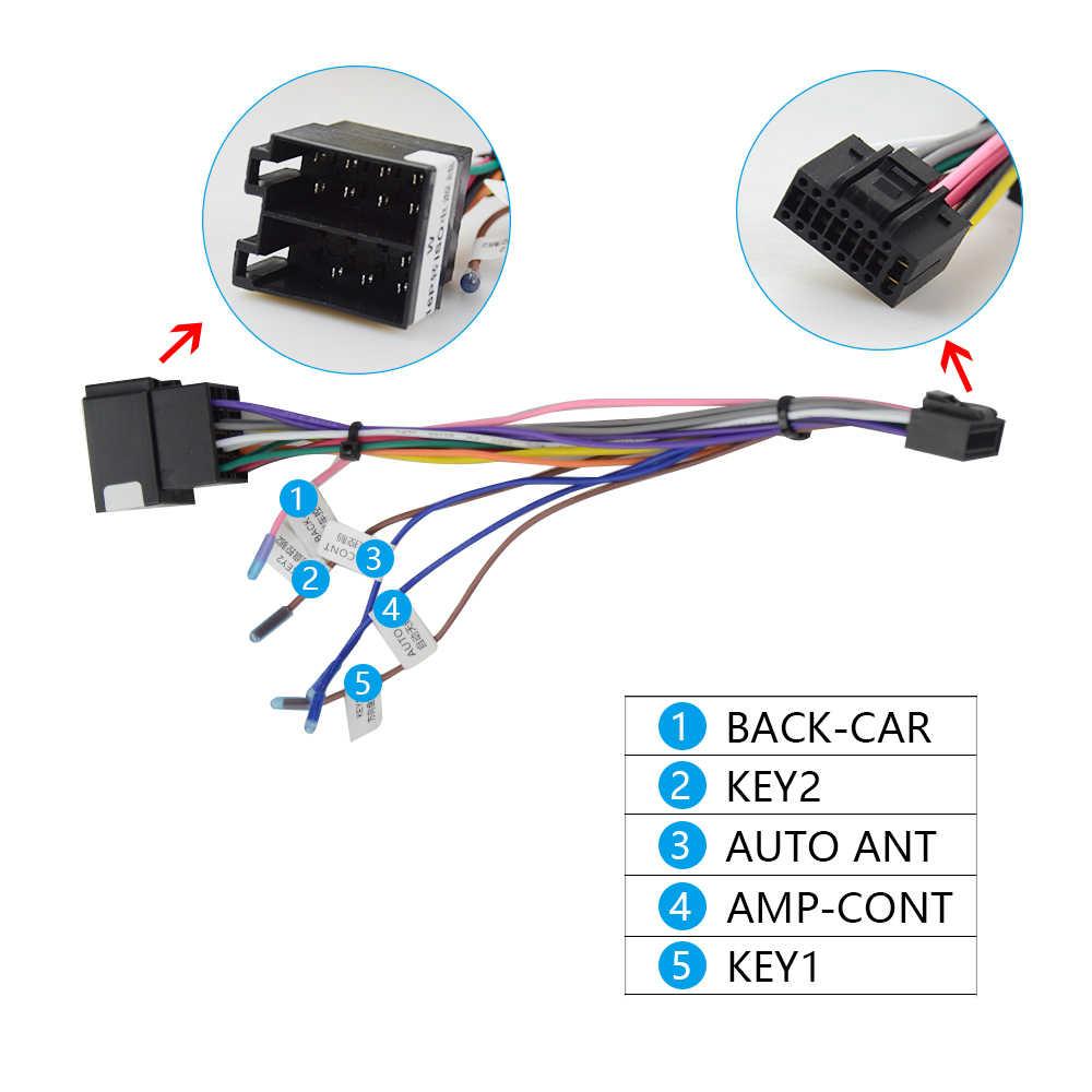 OKNAVI mikrofon USB GPS dikiz kamera RCA çıkışı AUX SIM kart yuvası radyo dönüştürücü 16PIN 4G güç kablosu araba navigasyon için