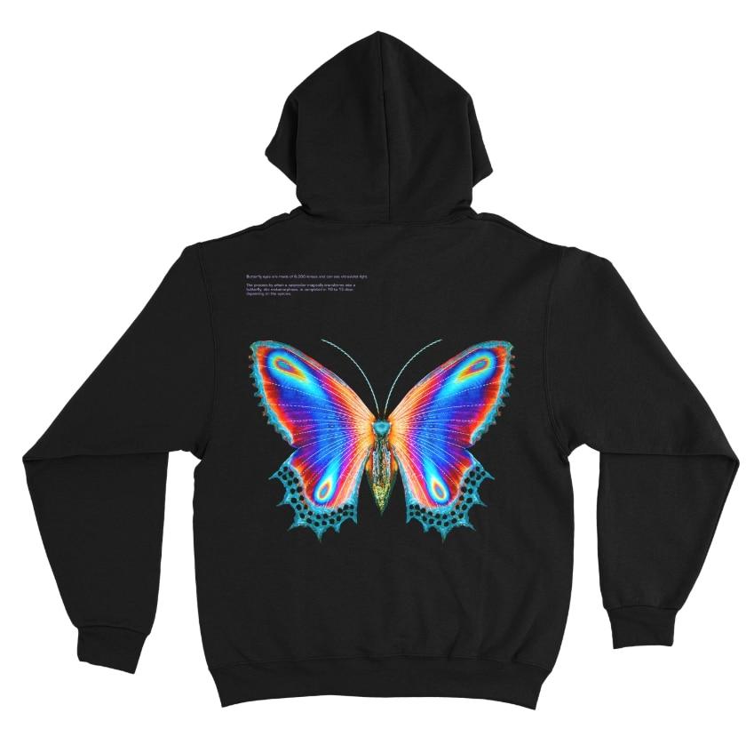Halsey Multicolor Butterfly Hoodie + Digital Album Hoodies Sweatshirt Pullover Sweatshirt Harajuku Streetwear Plus Size Clothing