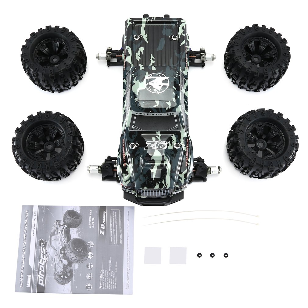 ZD RACING MT8 Pirates3 1/8 2,4G 90 km/h eléctrico sin escobillas RC coche de carreras OFF Road modelo Pie Grande monster camión RTR/Marco de coche