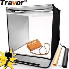 Travorกล่องไฟกล่องพับ 60 ซม.* 60 ซม.ภาพกล่อง 3 สีพื้นหลังสำหรับสตูดิโอถ่ายภาพกล่องยิงdasktopเต็นท์