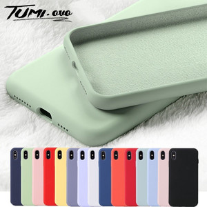 Original Liquid Silicone Phone Case for iPhone 11 Pro Max XR XS X Cases Rubber Soft Candy Cover for iPhone 6 6S 7 8 Plus Cases