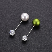Fixed Dress Korean Zircon Pearl Brooches Pins Needle Cardigan Scarf Shawl Buckle Brooch Collar Lapel Pin Fashion Women Jewelry funmor korean round lady brooches simulated pearl metal corsage circle scarf decoration hair sweater cloak buckle pins jewelry