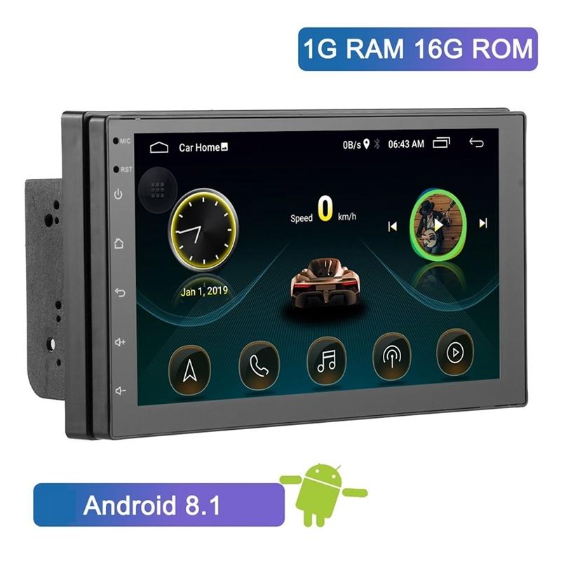 Двойной Din Android 8,1 универсальный автомобильный мультимедийный MP5 плеер gps навигация 7 дюймов HD сенсорный экран 2 din встроенный WiFi автомобильны...