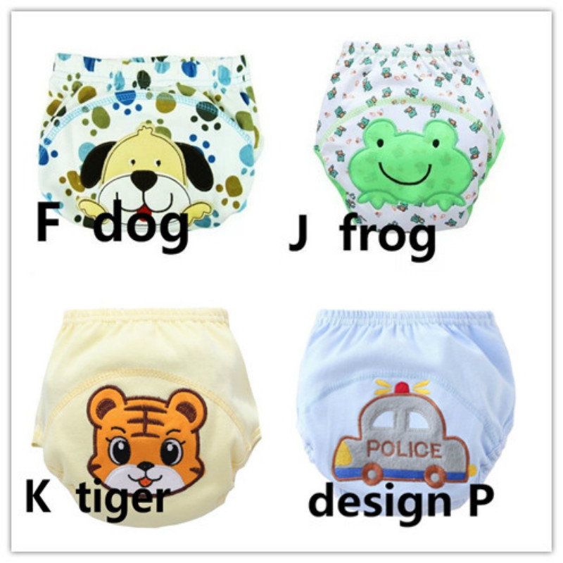 4pcs/lot Baby Training Pants Baby Diaper Reusable Nappy Washable Diapers Cotton Learning Pants 13--16kg