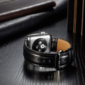 Image 4 - 本革ストラップapple watchバンド42ミリメートル44ミリメートルapple watch 4/5 38ミリメートル40ミリメートルコレア交換ブレスレットためiwatch 3/2/1