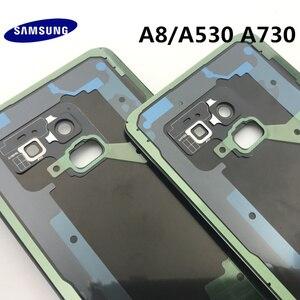 Image 5 - Ban Đầu Mới Dành Cho Samsung Galaxy Samsung Galaxy A8 A530 A530F A8 + Plus A730 Lưng Kính Pin Phía Sau Cửa Nhà Ở Lưng kính Cường Lực Mặt Sau Bao Da