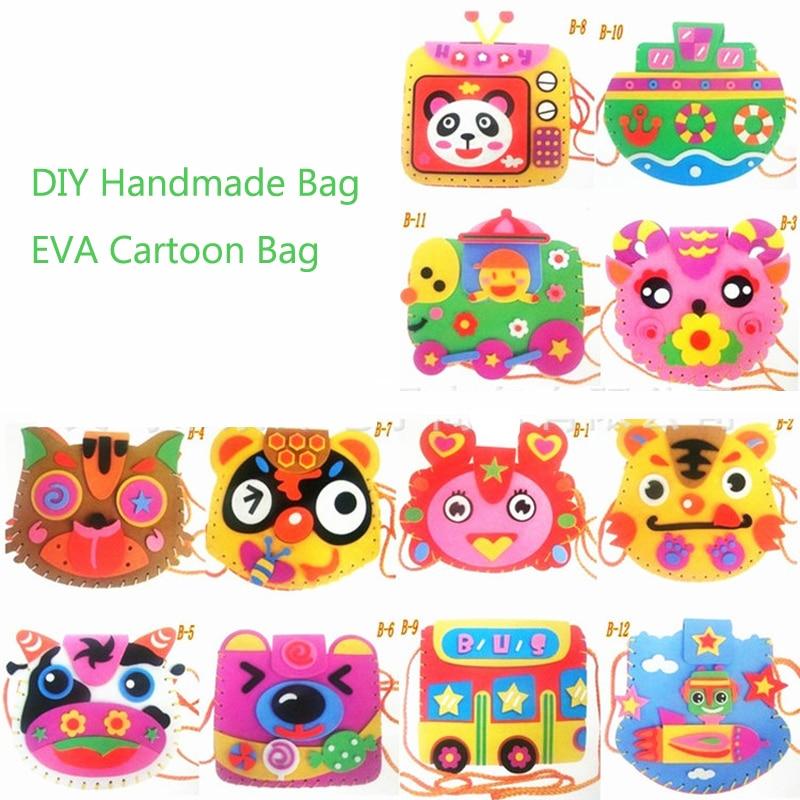 Girls DIY Crafts Handmade EVA Foam Animals Bag Toys For Children  Puzzles Interactive Educational Toys Kindergarten Handmade Bag