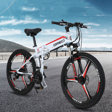 High quality lithium battery electric bike 48V 300W 13AH  auxiliary mountain bike 21 speed Electric fold bicycle ebike