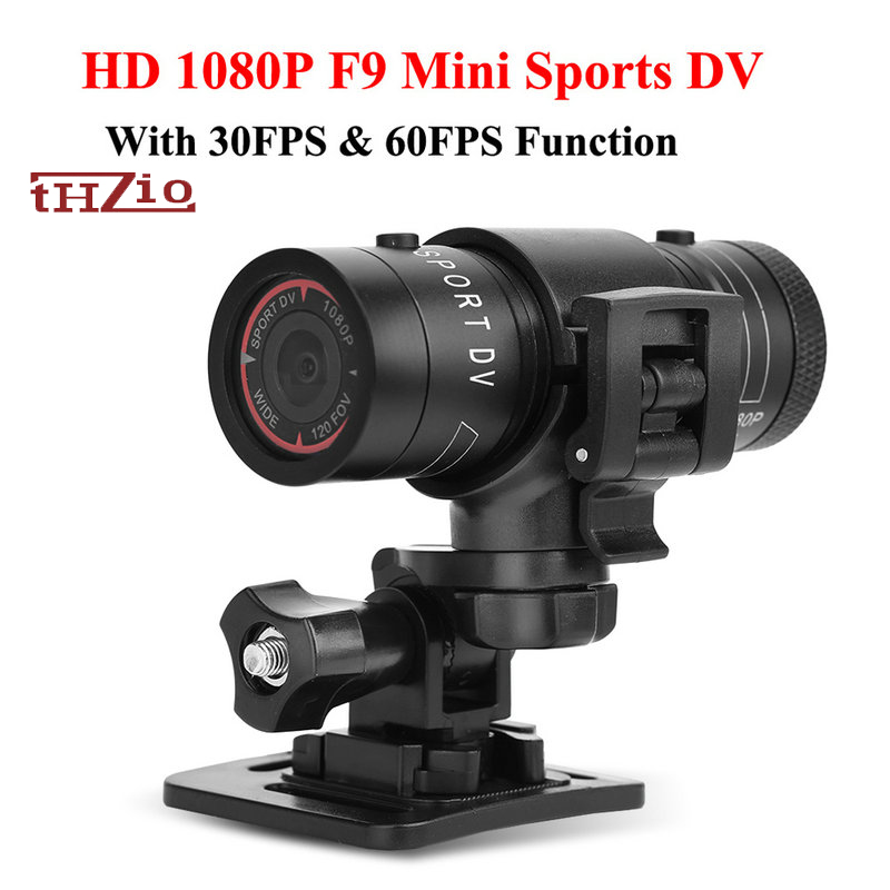 F9 Outdoor Sport Mini Camera HD 1080P Mini Camcorder 3MP Bicycle Helmet DV DVR Video Recorder Sport Action Pen Micro Bike Camera